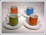 Lipper & Mann Creations Demitasse (4) Cups/saucers