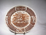 Alfred Meakin Brown Fair Winds Dinner Plate