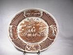 Alfred Meakin Brown Fair Winds Dinner Plate