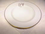 Pickard Dinner Plate Gold Horizon #1208 Gold Initials