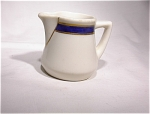 Small Creamer/ivory W/cobalt Blue/gold Trim
