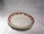 Carr China White/red Saucer Ideal Rest.supply