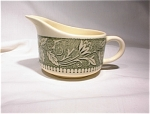 Royal China Creamer-ivory With Green Pattern