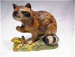 Beautiful Napcoware Raccoon Figurine C-6540