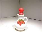 1970 Avon Strawberries & Cream Pitcher/cruet