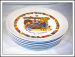 1973 Gentle Treasures Set Of Five Christmas Plates