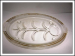 Inland Glass Meat Platter-well And Tree