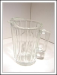 Crystal Ribbed 28 Oz Milk/water Pitcher
