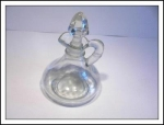 Beautiful Clear Glass Cruet With Stopper