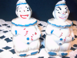 Vintage Apco Ceramic Clowns Salt And Pepper