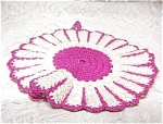 Vintage Hand Crocheted Potholder