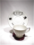 Lefton 25th Anniversary Cup/saucer #281