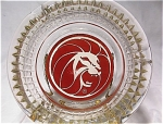 Mgm Grand Art Deco Style Glass Lion Ashtray