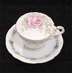 Aynsley English Bone China Cup, Saucer, Rose
