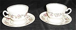 2 Wedgwood Harlech Footed Cups, Saucers