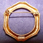 Gold Tone Circle Pin - Avon