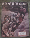 Wwi Sheet Music, If I'm Not At The Roll Call