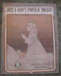 Wwi Sheet Music, Just Baby's Prayer Twilight