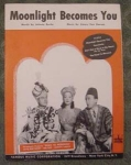 Moonlight Becomes You Sheet Music, Bob Hope