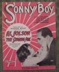 Sonny Boy, Al Jolson, Sheet Music