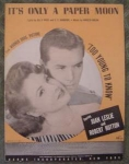 Only A Paper Moon Sheet Music Hutton & Leslie