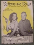 Buttons And Bows Sheet Music, Bob Hope