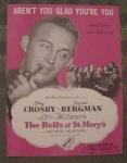 2 Bing Crosby, Ingrid Bergman Sheet Music