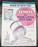 Shirley Temple Sheet Music, Poor Rich Girl