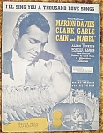 Clark Gable Sheet Music, Cain And Mabel