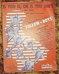 Follow The Boys Movie Sheet Music, Is You Is