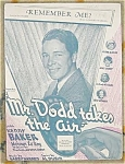 Remember Me? Mr. Dodd Takes Air Sheet Music