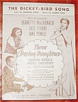 Three Daring Daughters Movie Sheet Music