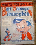 Walt Disney Sheet Music Pinocchio If You Wish
