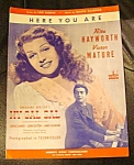 My Gal Sal Rita Hayworth Sheet Music Here You