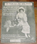 Alice Lloyd Sheet Music, If You'll Be My Eve