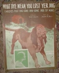 Vintage Dog Sheet Music, You Lost Yer Dog