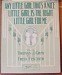 Any Little Girl ... Vintage Sheet Music
