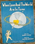 Cupid Vintage Sheet Music, When Love...