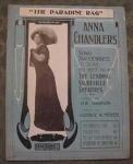 Paradise Rag Sheet Music, Anna Chandler