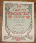 Ny Hippodrome Sheet Music, Looking Sweetheart