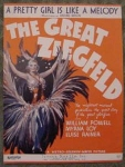 The Great Ziegfeld, Irving Berlin Sheet Music