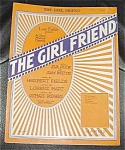 Fields Show Tune Sheet Music, The Girl Friend