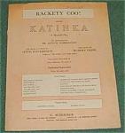 Hammerstein Tune, Rackety Coo , Sheet Music