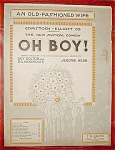 Bolton Wodenhouse & Kern Sheet Music ,oh Boy