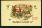 Santa Postcard, Resting In His Workshop
