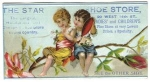 Star Shoe Store Victorian Trade Card, Nyc