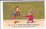 George Doll & Co Trade Card - Toys, Pipes