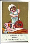 I Oakford & Son Hatters Trade Card, Doll