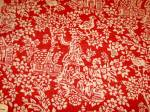 Williamstown Red/white Upholstery Fabric
