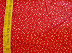 Vtg Cute Red Calico Quilt Fabric - 1960's